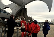 School group tour The Falkirk Millennium Wheel with Tony Kettle
