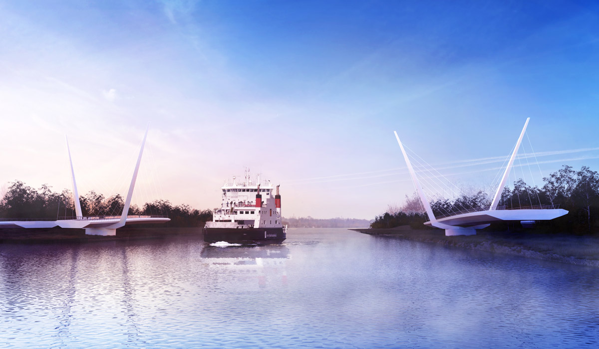 Falkirk Wheel architect reveals shipbuilding inspired design for new bridge