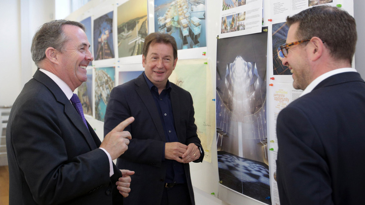 International Trade Secretary Dr Liam Fox visits Kettle Collective