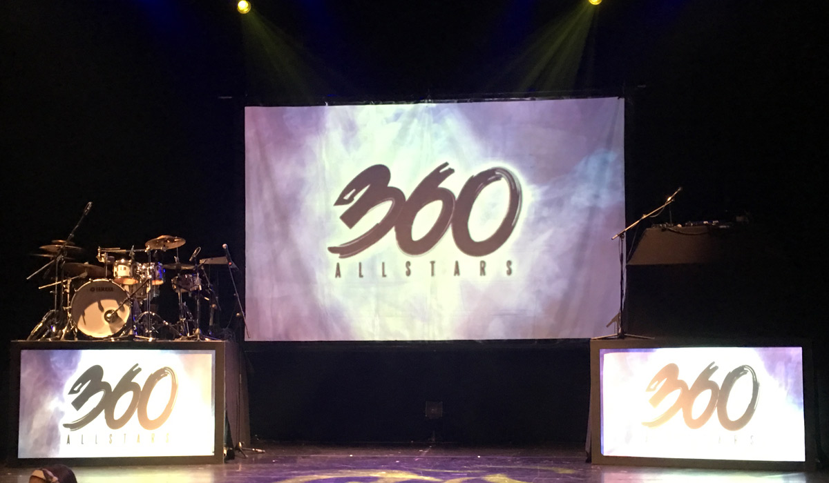 Image of the 360 Allstars stage.